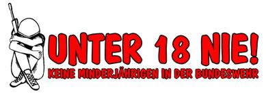 """Kampagne """"Unter 18 nie! Keine Minderjährigen in der Bundeswehr"""""""