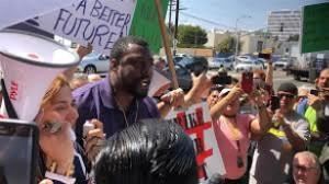 Der Streik der Uber Fahrer am 25.3.2019 in Los Angeles wurde von über 2.500 Gewerkschaftsmitgliedern befolgt