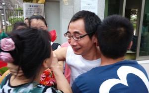 Wu Guijun wurde in den letzten Jahren mehrfach festgenommen, wie jetzt am 20.1.2019 - hier bei einer früheren Freilassung