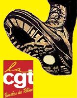Plakat des CGT Bezirks gegen die Initiative eines Abgeordneten zu ihrem Verbot