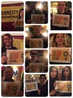 Solidaritätsaktion von ai München mit dem Hungerstreik der sudkoreanischen Gitarrenbauer Anfang April 2019