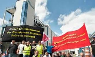 Proteste bei Prinovis-Tiefdruckbetriebe in Nürnberg in 2011