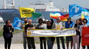 Auch in Marseille: Hafenarbeiter verweigern die Beladung des saudischen Schiffes Bahri Tabuk mit Waffen