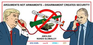 [Aktionstag 1.6.2019] Rettet den INF-Vertrag - Reden statt rüsten - Abrüstung schafft Sicherheit!