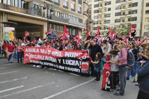 Die CGT in Valencia am 1. Mai 2019 - eine der vielen und großen alternativen Maidemos in den unspanischen Regionen Spaniens