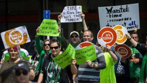 Der LehrerInnen-Streik in Neuseeland Ende Mai 2019 war der bisher grösste in der Geschichte...