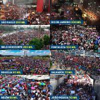 Zusammenschau der Demonstrationen am 15.5.2019 gegen die Kürzungen der brasilianischen rechtsregierung im Bildungswesen