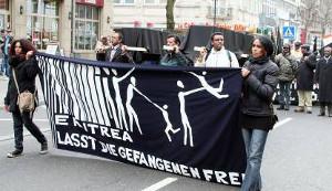 Eine der zahlreichen Solidaritäts-Demonstration für Eritrea, die in den letzten Jahren in der BRD stattfanden
