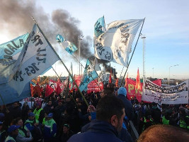 Der fünfte Geberalstreik gegen die argentinische Regierung war der bisher mit Abstand stärkste am 29.5.2019, hier in Buenos Aires