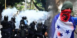 So sieht es aus, wenn die Regietung in Honduras dem Protest gegen Privatisierung den Dialog anbietet - 24.5.2019