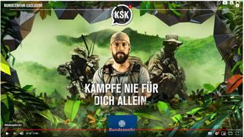 """Screenshot der Youtube-Serie """"KSK – Kämpfe nie für dich allein"""" (Youtube)"""
