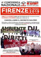 Plakat der Frente zum Kongress gegen das Salvinidekret
