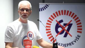 """Kroatische Gewerkschaften organisieren die Initiative """"67 ist zu viel"""" gegen die Erhöhung des Rentenalters"""
