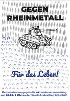 [28. Mai 2019] Protest gegen Rheinmetall-Aktionärsversammlung in Berlin