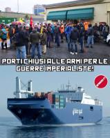 Seit dem 15. Mai 2019 wurde in Genua für den Streik gegen das saudische Waffenschiff mobilisiert - am 20.5 wurde seine Beladung verhindert
