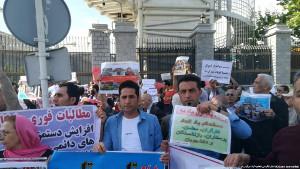 Eine der beiden Maidemonstrationen 2019 in Teheran - her vor dem Parlament