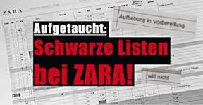 ver.di Zara Infoblog: ZARA führt interne Schwarze Listen über seine Mitarbeiter*innen!