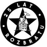Plakat zum 25. Jahrestag der Besetzung des kulturellen Zentrums Rozbrat in Poznan - das im Juni 2019 mit Räumung bedroht wird
