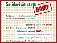 """""""Solidarität statt BAMF"""". Aktion von Deutsch-Lehrkräften und Initiativen für die Rechte von Geflüchteten am 20. Juni 2019 in Berlin"""