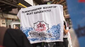 Anfang Juni 2019 begann der Hungerstreik für die Schliessung des Abschiebellagers in - über - Innsbruck
