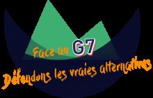Mobilisierungsplakat der französischen Organisationen für den Gegengipfel zum G7 Treffen in Biarritz im August 2019