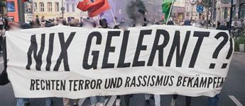 Nix gelernt? Rechten Terror und Rassimus bekämpfen!