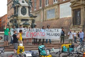 Die Protestaktion der Riders Union in Bologna am 10. Juni 2019 - einen Tag nach dem Tod von Mario Ferrara