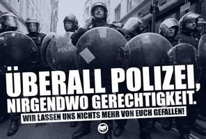 Demonstrationsplakat für die Wiener Aktion gegen Polizeigewalt am 6.6.2019