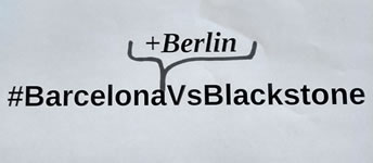 BarcelonaVsBlackstone - Zwangsräumung in Barcelona, Solidarität in Berlin am 11.7.19