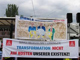 """Protestaktion bei MAHLE am 12.7.19: """"Zukunft statt Abzocke 2.0"""""""