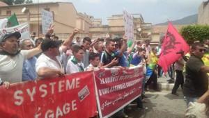 Ein wachsender Zusammenschluss der algerischen Opposition: Gemeinsame Demonstration gewerkschaftlicher Gruppen in Algier, Anfang Juli 2019