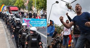 Die pride Demonstration am 20.7.2019 in Bialystok von Faschisten attackiert