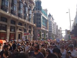 Madrid Demonstration für autofreie Innenstadt am 29.6.2019