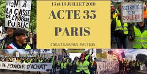 Paris: Acte 35 der Gelbwesten am 13./14.7.2019