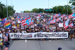 Die größte Demonstration in der Geschichte Puerto Ricos am 23.7.2019 - für den sofortigen Rücktritt des Gouverneurs