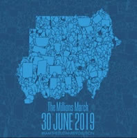 """Marsch der Million"" am 30.6.2019 im Sudan"