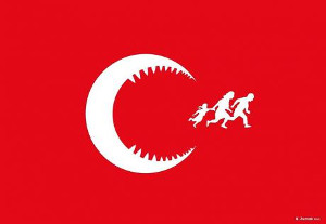 Das Logo einer Flüchtlingsinitiative aus der Türkei
