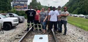 Die Bergareiter und Arbeiterinnen, die seit rund einem Monat die Bahnlinie für Kohletransporte in Kentucky blockieren