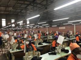 Die taiwanesische Fabrik, von der die Kampagne in Lesotho ausging...
