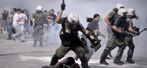 Polizeiaufmarsch gegen Anarchisten in Athen - Anfang August 2019