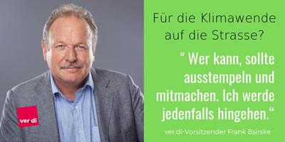 """Fridays for Future: Verdi-Chef Bsirske ruft zur Teilnahme am """"Klimastreik"""" auf [mit Ausstempeln]"""