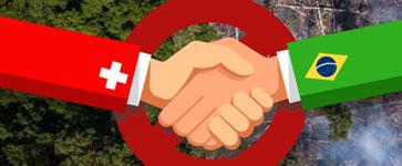 """schweizerische Campax-Petition """"Kein Schweizer Freihandelsabkommen mit Amazonas-Zerstörer Bolsonaro!"""""""