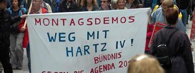Montagsdemo gegen Hartz IV und Agentda 2010