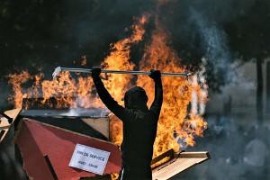 Feuer und Flamme für den Polizeistaat in Nantes am 3.8.2019