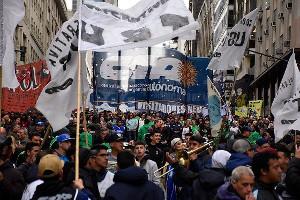 Hungermärsche in Argentinien - hier in Buenos Aires am 4.9.2019 - sind eine der Neuheiten, die die Regierung Macri erreicht hat