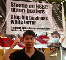 Nathan Leung ist Gewerkschaftsaktivist der Finance Union Hongkong