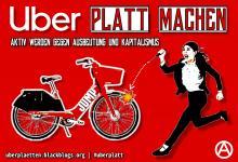 Berliner Kampagnenplakat gegen Ubers E Scooter Offensive