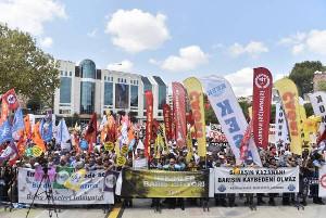 Antikriegstagsdemo Istanbul am 1.9.2019 - von der HDP und den Gewerkschaften organisiert