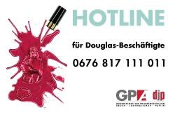 Parfümeriekette Douglas in Österreich verhindert die Gründung eines Betriebsrats - Hotline der Gewerkschaft GPA