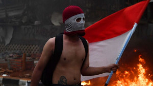 Studierende protestieren in Indonesien im September 2019 mit 6-Punkten Katalog
